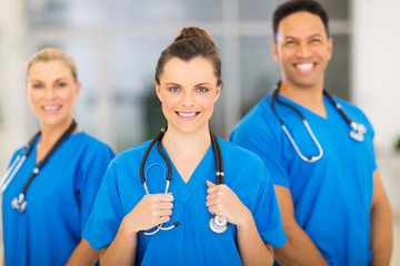 medical nurse and colleagues