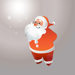 Santa Claus with glasses smilings