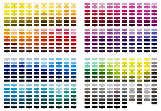 Color reference illustration. Shades from 100 to cool gray 11.