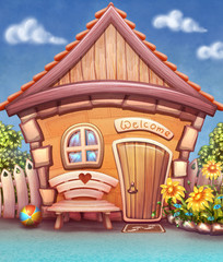 Cartoon house illustration