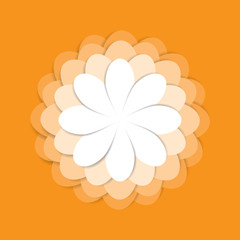Beautiful flower icon, abstract natural flower background