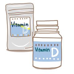 ビタミンDサプリメントボトルセット