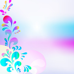Abstract pink blue drop background
