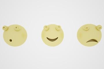 Emoticon sfere 3D espressioni