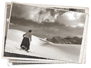 Vintage photos women on skis