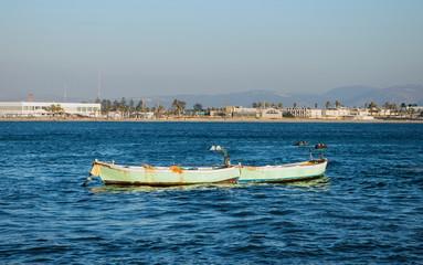 Mediterranean coast near the city of Acre in Israel