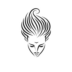 tattoo of a woman's head