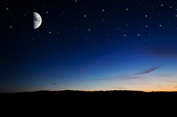Night background. Elements of this image furnished by NASA.
