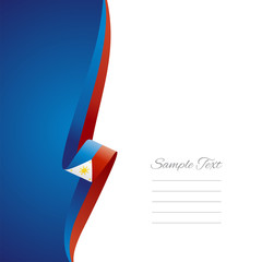 Philippine left side brochure cover vector