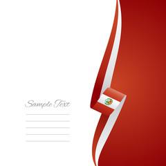 Peru right side brochure cover vector