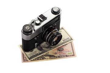 Camera on dollars