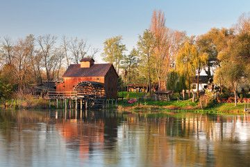Watermill in river Small Danube - Slovakia, Jelka