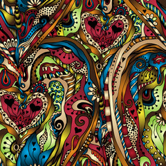 Vector abstract floral seamless background.