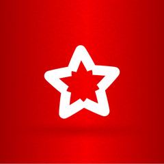 Nice  star on the red background