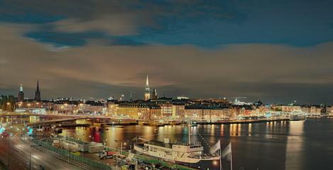 Stockholm beleuchtet Panorama
