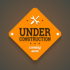 Under construction with coming soon label.
