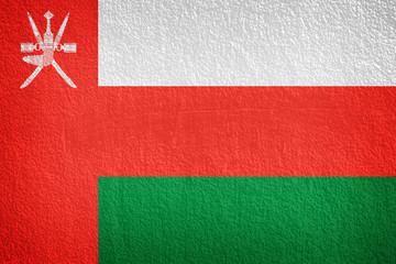 Grunge flag of Oman