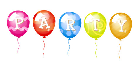 Decorative Party Balloons Illustration