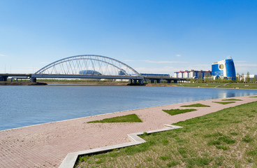 Embankment on the Ishim River in Astana