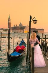 Spoed Fotobehang Venetie Just married in Venice, Italy.