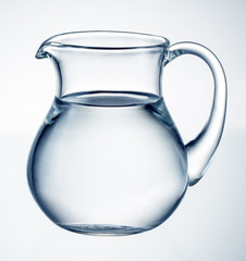 Water pitcher isolated. With clipping path