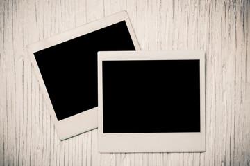 Blank instant photo frames background.
