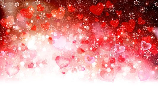 バレンタイン ハート 背景