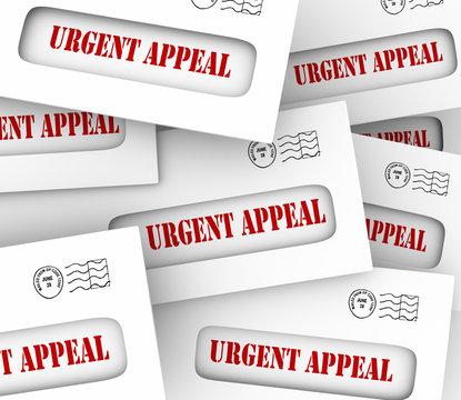 Urgent Appeal Envelopes Mailed Message Important Plea Asking Mon
