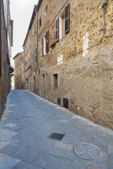 Fototapete - Ancient Town Pienza, Tuscany, Italy