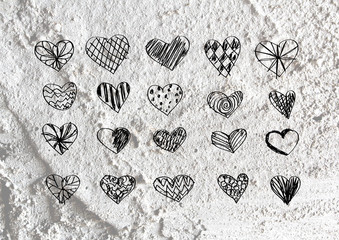love and hearts for valentine design