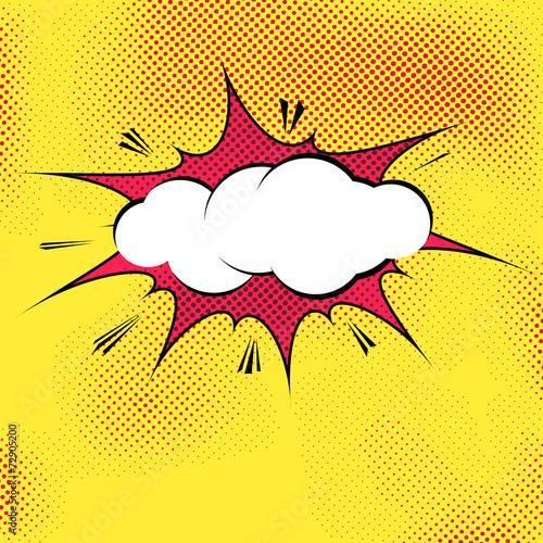 speech bubble pop art splash explosion template imagens e vetores