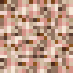 Abstract pattern brown squares background vector seamless