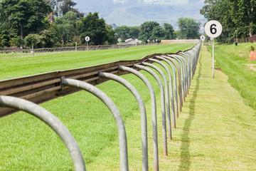 Horse Racing Track Railing Sprint Straight