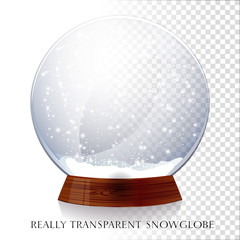 Transparent snowglobe