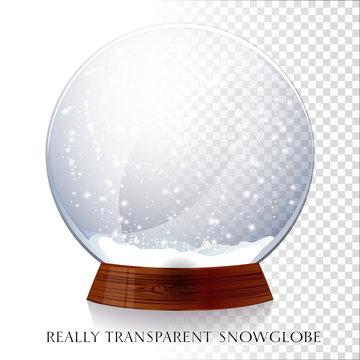 Transparent snowglobe