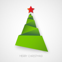 Christmas tree paper design