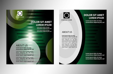 Abstract Business Background. Brochure or flyer template
