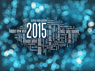 HAPPY NEW YEAR 2015 Greeting Card (merry Christmas lights)