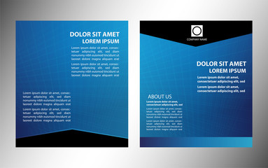 Vector layout business flyer, magazine cover, template