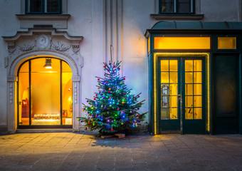 Christmas tree in Vienna
