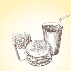 Fast food background 6