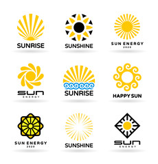 Set of sun icons (5)