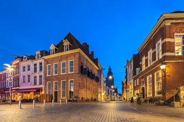 Ancient houses in the historic Dutch city of Zutphen