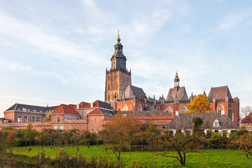View at the historic Dutch town Zutphen
