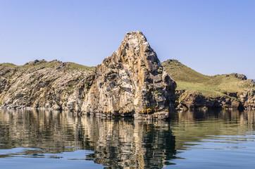 Tree of desires on cape Burhan of Olkhon Island on Lake Baikal,