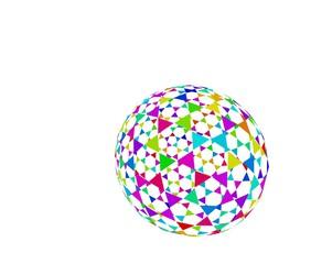 カラフルな球体