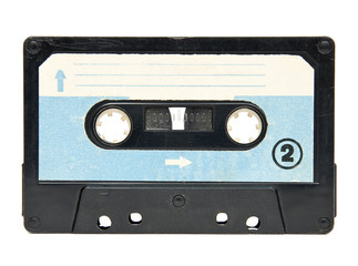 Compact cassette isolated on white background