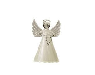 Christmas Angel figurine on white background