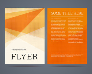 Flyer / brochure design template a4 format with geometric abstra