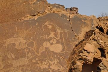 Felsgravuren, historisch, Twyfelfontein, Namibia, Afrika